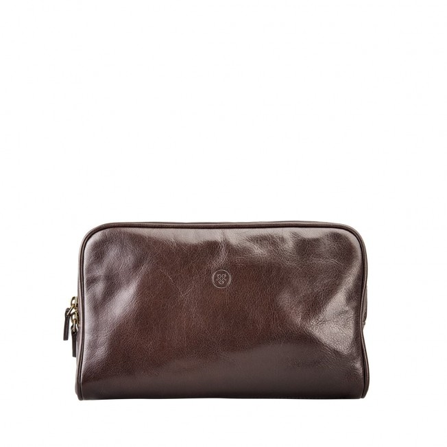 The Raffaelle Luxury Leather Wash Bag