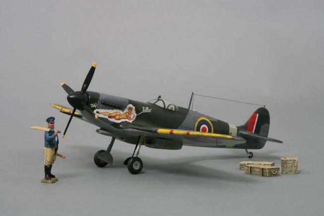 Thomas Gunn 1/30 Scale Aircraft Model - Spitfire 'Hello Tolly'
