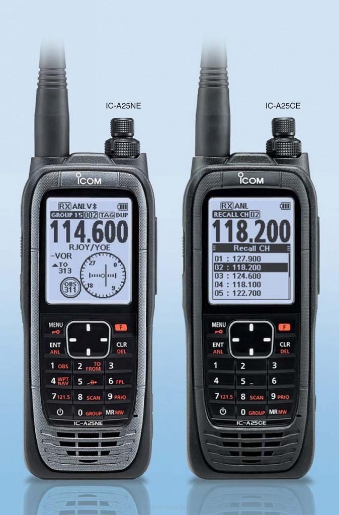 ICOM IC-A25NE 8 33kHz Aviation Airband Transceiver