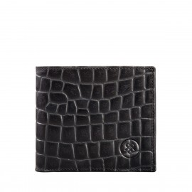 The Vittore Croco Mens Leather Bifold Wallet