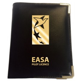 POOLEYS EASA PRIVATE PILOT LEATHER LICENCE COVER