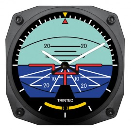 "Trintec Artificial Horizon Instrument 6"" Wall Clock"