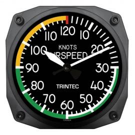 "Trintec Modern Airspeed Indicator Instrument 6"" Wall Clock"
