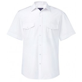 White Slim Fit Pilot Shirt - Long & Short Sleeve