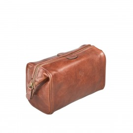The Duno-M - Luxury Leather Travel Wash Bag for Men