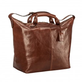 Fabrizio Luxury Leather Weekend Bag