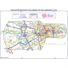 CAA 1:50,000 London Helicopter Route VFR Chart - Edition 17