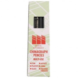 Royal Sovereign Chinagraph Black or White Pencil - Pack of 12
