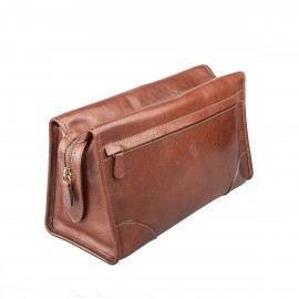 The Tanta - Large Leather Wash/Toiletry Bag for Men
