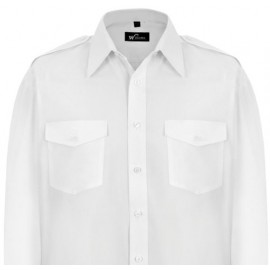 Williams White Uniform Pilot Shirt