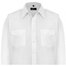 Williams White Uniform Pilot Shirt